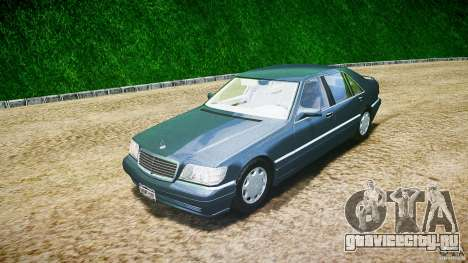 Mercedes Benz SL600 W140 1998 higher Performance для GTA 4