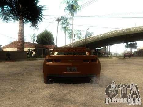 Chevrolet Camaro SS Dark Custom Tuning для GTA San Andreas вид сзади слева