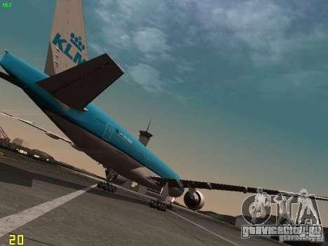 Boeing 777-200 KLM Royal Dutch Airlines для GTA San Andreas вид справа
