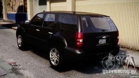 Chevrolet Tahoe 2007 для GTA 4 вид сзади слева