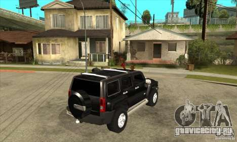 Hummer H3 для GTA San Andreas вид справа