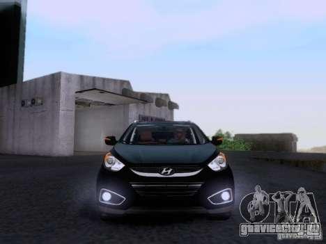 Hyundai ix35 для GTA San Andreas вид изнутри