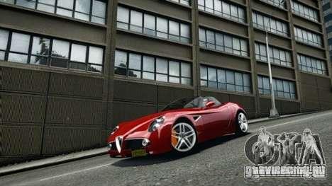 Alfa Romeo 8C Spyder для GTA 4 вид справа