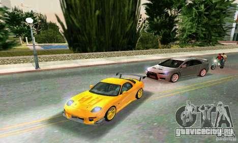 Mazda RX7 RE-Amemiya для GTA Vice City вид сзади слева