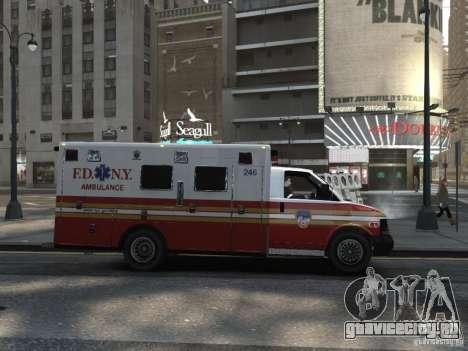 Chevrolet Ambulance FDNY v1.3 для GTA 4 вид справа