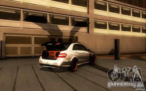 Mercedes Benz E63 DUB для GTA San Andreas вид сзади