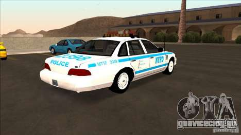 Ford Crown Victoria 1992 NYPD для GTA San Andreas вид сзади слева