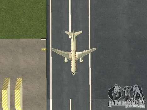 Airbus A319 Air Canada для GTA San Andreas вид изнутри