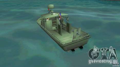 Patrol Boat River Mark 2 (Player_At_Wheel) для GTA Vice City вид сзади слева
