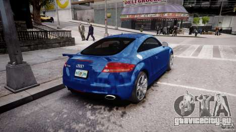 Audi TT RS Coupe v1 для GTA 4 вид сзади слева