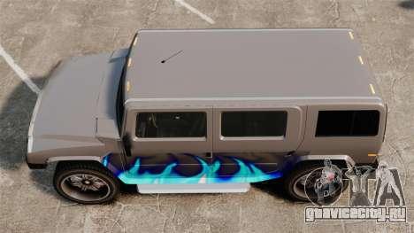 Patriot в раскраске Голубой огонь для GTA 4 вид справа