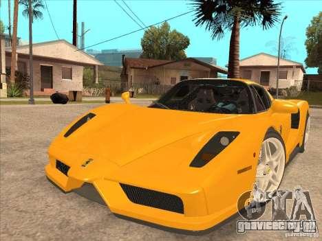 Ferrari Enzo 2010 для GTA San Andreas вид сзади слева