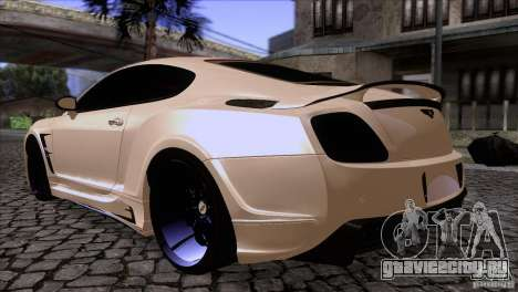 Bentley Continental GT Premier 2008 V2.0 для GTA San Andreas вид сзади