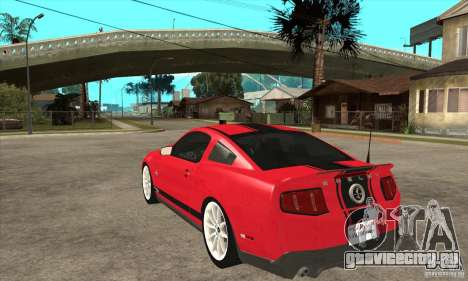 Ford Shelby GT500 Supersnake 2010 для GTA San Andreas вид сзади слева
