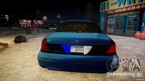 Ford Crown Victoria Detective v4.7 [ELS] для GTA 4 салон
