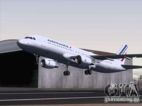 Airbus A320-211 Air France для GTA San Andreas вид сзади слева
