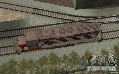 CN SD40 ZEBRA STRIPES для GTA San Andreas вид сбоку