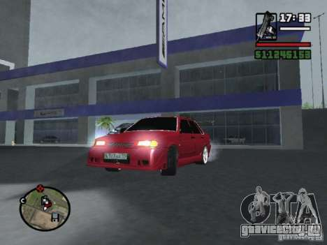 ВАЗ 2115 TUNING для GTA San Andreas вид сзади