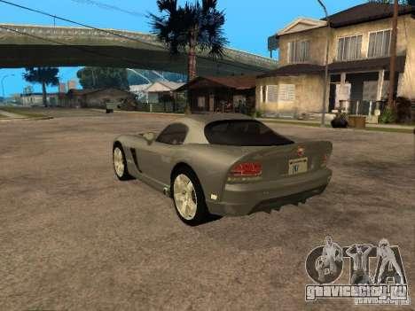 Dodge Viper Coupe 2008 для GTA San Andreas вид слева