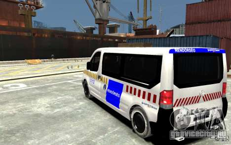 Opel Vivaro Hungarian Police Van для GTA 4 вид сзади слева