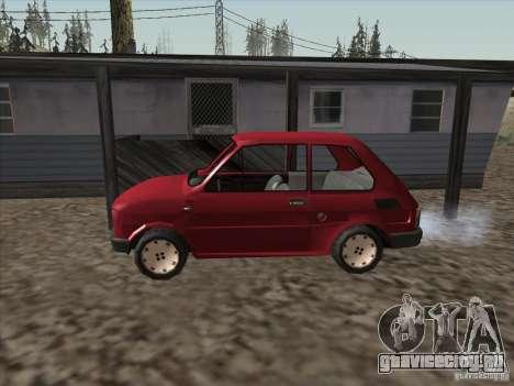 Fiat 126p Elegant для GTA San Andreas вид слева