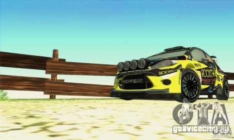 Ford Fiesta Rockstar Energy для GTA San Andreas вид справа