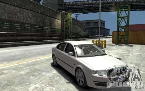 Skoda SuperB для GTA 4 вид сзади