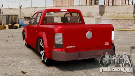 Volkswagen Amarok 2.0 TDi AWD Trendline 2012 для GTA 4 вид сзади слева