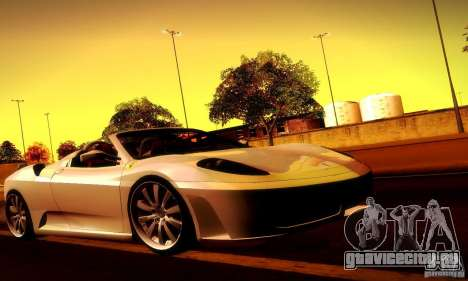 Ferrari F430 Spider для GTA San Andreas салон
