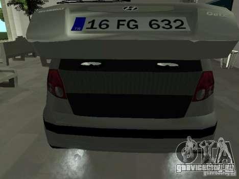 Hyundai Getz для GTA San Andreas вид сбоку