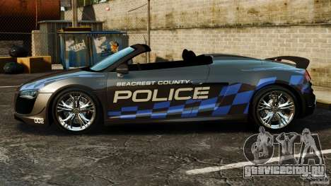 Audi R8 GT Spyder 2012 для GTA 4 вид слева