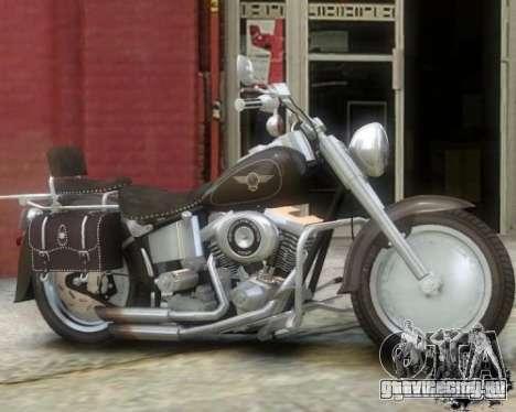 Harley Davidson FLSTF Fat Boy для GTA 4 вид слева
