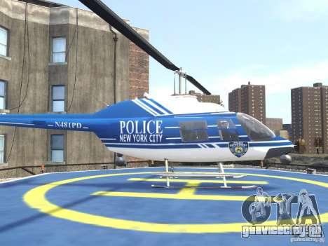 Bell 206 B - NYPD для GTA 4 вид слева