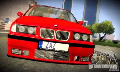 BMW  M3 Е36 для GTA San Andreas вид изнутри