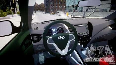 Hyundai Veloster Turbo 2012 для GTA 4 вид справа