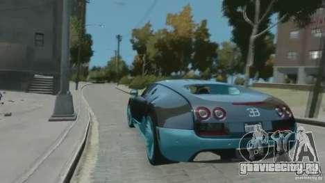Bugatti Veyron 16.4 Super Sport для GTA 4 вид сзади