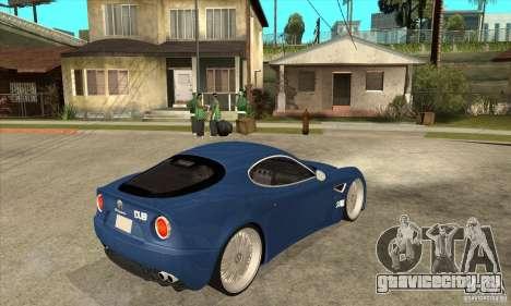 Alfa Romeo 8C Competizione для GTA San Andreas вид справа