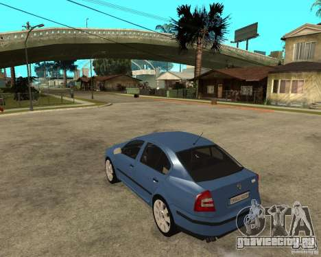 Skoda Octavia II. 2005 для GTA San Andreas вид слева