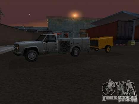 Прицеп Компрессорная станция для GTA San Andreas вид сбоку
