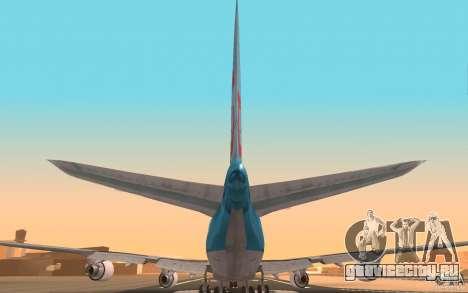 Boeing-747 Corsair Fly для GTA San Andreas вид сзади