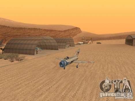 Миг 15 С рабочим вооружением для GTA San Andreas вид изнутри