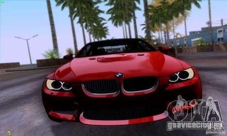 BMW M3 E92 v1.0 для GTA San Andreas вид сзади слева