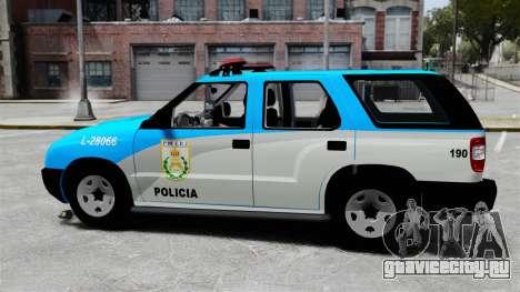 Chevrolet Blazer 2010 PMERJ ELS для GTA 4 вид слева
