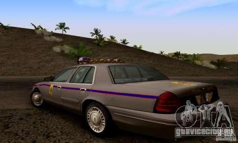 Ford Crown Victoria Mississippi Police для GTA San Andreas вид слева