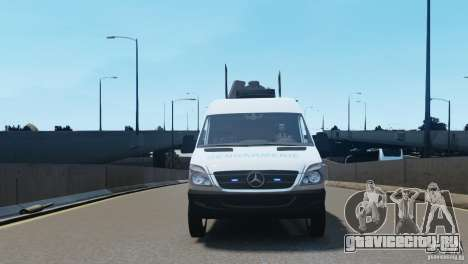 Mercedes-Benz Sprinter-Identification Criminelle для GTA 4 вид изнутри