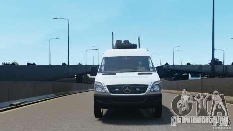 Mercedes-Benz Sprinter-Identification Criminelle для GTA 4 вид изнутри
