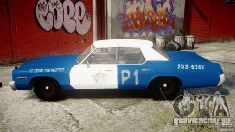 Dodge Monaco 1974 (bluesmobile) для GTA 4 вид слева