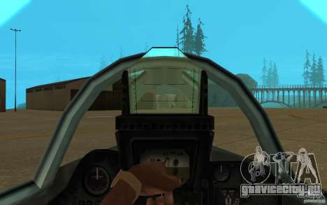 МиГ-23 Flogger для GTA San Andreas вид изнутри