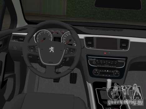 Peugeot 508 e-HDi 2011 для GTA Vice City вид сзади слева