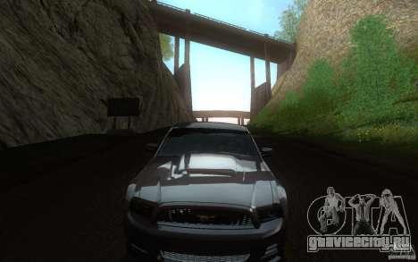 Ford Mustang GT V6 2011 для GTA San Andreas вид изнутри